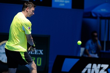 Robin Soderling clothes Australian Open 2011