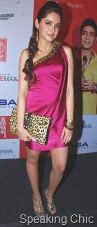 Shazahn Padamsee accessories at Dil toh baccha hai ji music launch