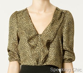 Zara Top leopard print