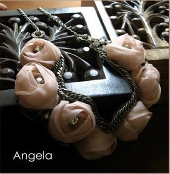 Rosette necklace- Meera Design & Style