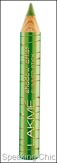 Lakme Shadow Artist Shimmer Stick in GREEN - Lakme Fantasy Collection