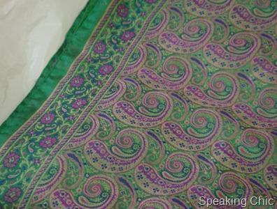 Green brocade sari