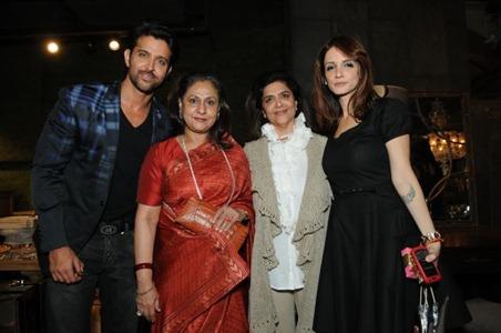 Hrithik Roshan, Jaya Bachchan, Pinky Roshan, Sussanne Roshan
