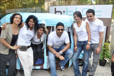 b:blunt team: Avan Contractor, Shimsha & Shefali Shetty, Abhishek Bachchan, Adhuna Akhtar and Osh Bhabani