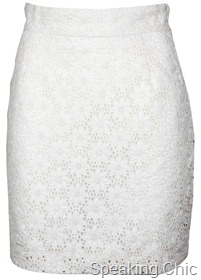 French Connection white lace skirt