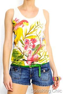 Mango parrot tshirt
