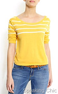 Mango yellow and white top