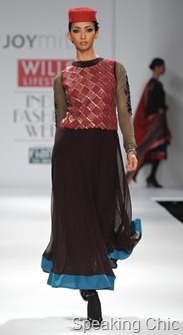 Joy Mitra at WIFW A/W 2011