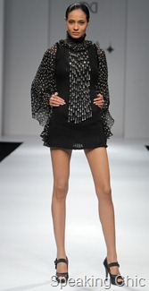 Nikhita Tandon at WIFW A/W 2011- dress with safety pins