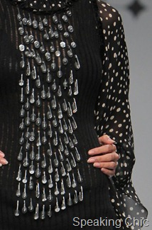 Nikhita Tandon at WIFW A/W 2011- dress with safety pins closeup