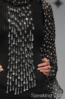 Nikhita Tandon at WIFW A/W 2011- dress with safety pins closeup