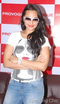 Sonakshi Sinha at opening of a new store  Provogue at Hyderabad