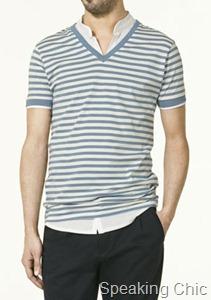 Zara double stripe tshirt