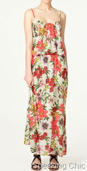 Zara long floral dress
