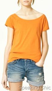 Zara orange tee