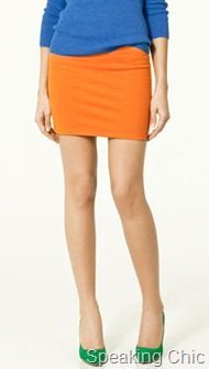 Zara sheath skirt