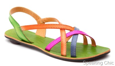 Green and strappy flats from Catwalk