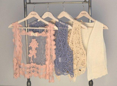 Amichi waistcoats in lace