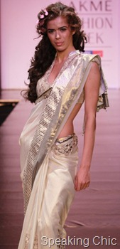 Anita Dongre's Timeless white sari with gota border