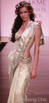 Anita Dongre's Timeless white sari with gota border