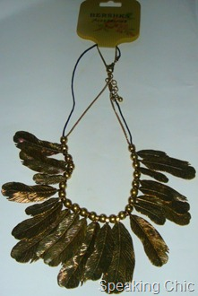 Leaf necklace from Bershka