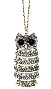 Mango owl necklace and pendant