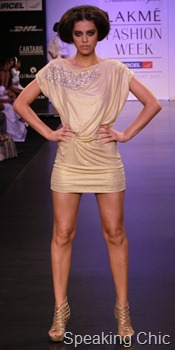 Siddartha Tytler LFW S/R 2011 dress metallic