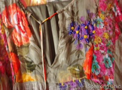 TMT tunic and beaded embellishment