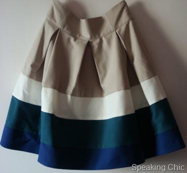 Zara colourblocked skirt