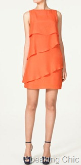 Zara dress with asymmetric flounce