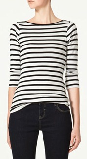 zara navy cotton tshirt