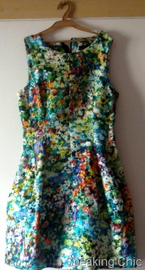 Zara neon floral printed dress
