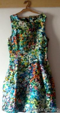 Zara neon floral printed dress