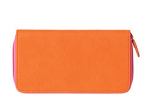 zara orange wallet