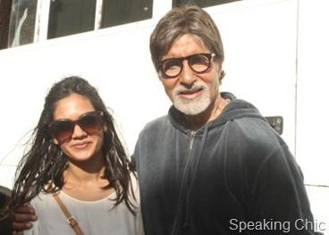 Leepakshi Ellawadi with Amitabh Bachchan for Bbuddah hoga terra baap