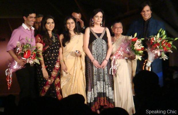 Kajol in sari, Shaina NC, Manish Malhotra, Nita Ambani, Vivek Oberoi