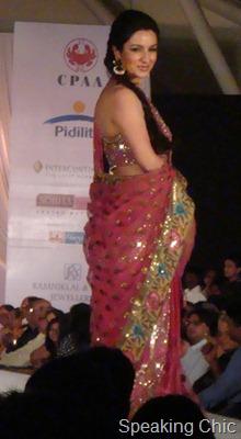 Shaina NC pink sari-- Tisca Chopra
