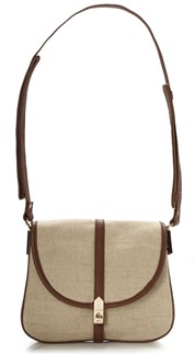 French Connection Glasto Linen Satchel