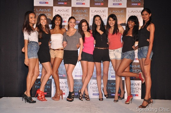 New faces of Lakme Fashion Week-(L-R) Keren SilveirraKaren LimaXamira MohlmannNoelia BarreiroDiana LobodaMariia CherniakovychSweta DolliNijhum Pat