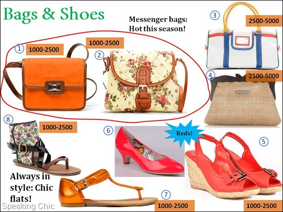 Summer bags and shoes (accessories)