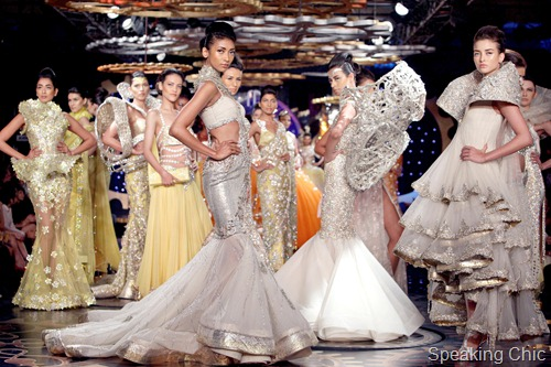 Manav Gangwani at Synergy1 Delhi Couture Week