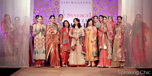 Ashima _ Leena with Sharmila Tagore at Synergy1 Delhi Couture Week