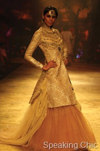 Model at Delhi Couture Week