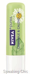 Nivea pure & natural lip care Camomile & Calendula