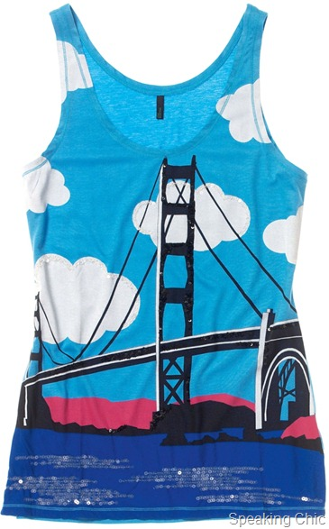 Tank Top with graphic print from Benetton