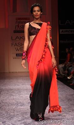 Nachiket Barve sari at LFW W/F 2011