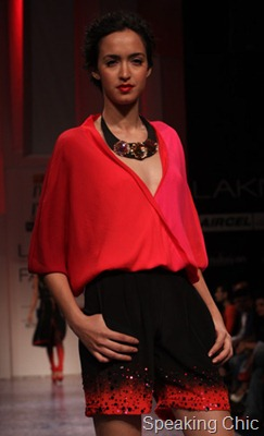 Nachiket Barve shorts and blouse at LFW W/F 2011