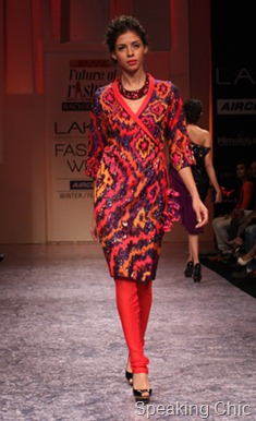 Nachiket Barve wrap dress at LFW W/F 2011