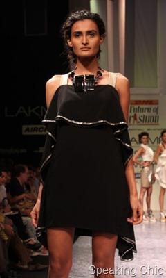 Swapnil Shinde black dress with drape at LFW W/F 2011