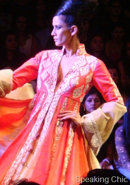 Model at Manish Malhotra- LFW W/F 2011